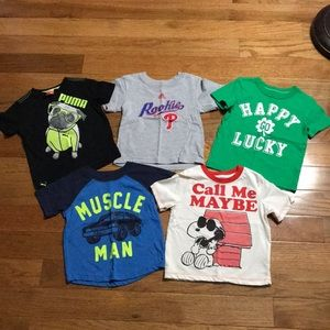 Lot of 5 size 2T t-shirts